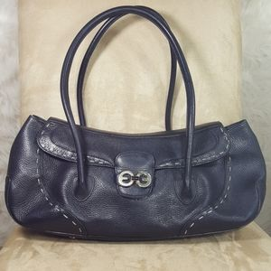 Escada Black Pebbled Leather Bag